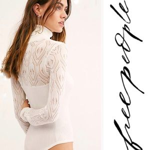 Free People Pretty In Pointelle Bodysuit